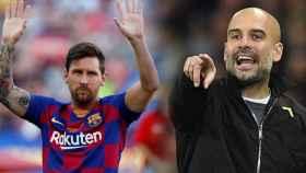 Leo Messi y Pep Guardiola