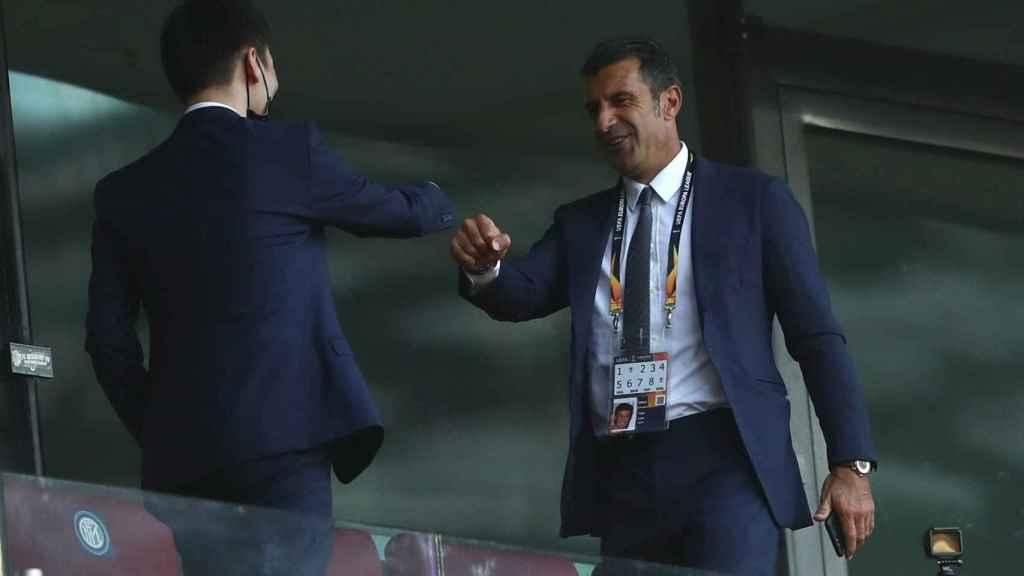 Luis Figo, presente en la final de la Europa League