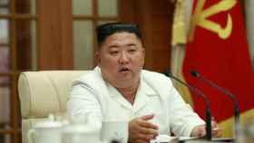 Kim Jong-un en la reunión de este miércoles.
