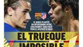 La portada del diario Marca 28-08-2020