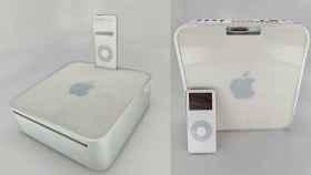 Prototipo de Mac Mini con una base para iPod.