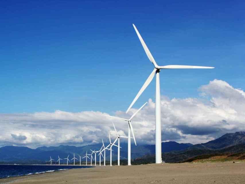 Turbinas eólicas.