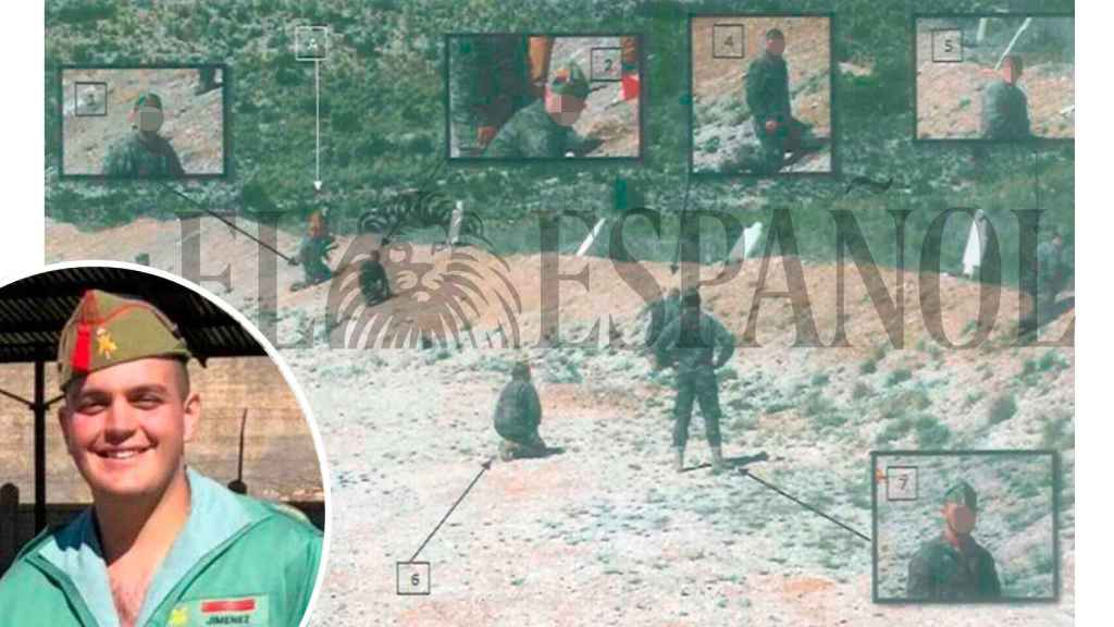 Imágenes de la reconstrucción de la muerte del sargento en el sumario del caso.