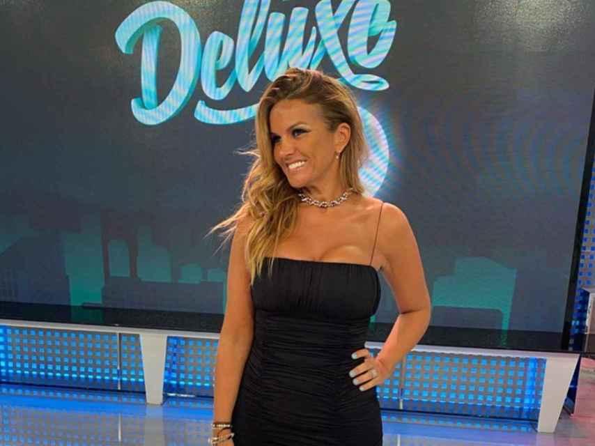 Marta López en el plató de 'Sábado Deluxe'.