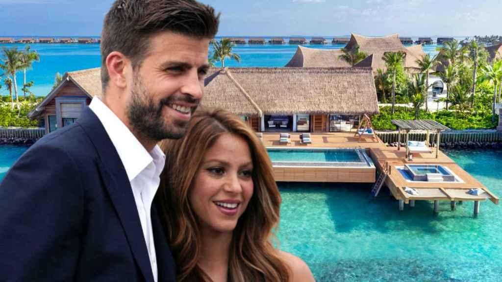 Shakira y Piqué, de vacaciones, en un fotomontaje de JALEOS.