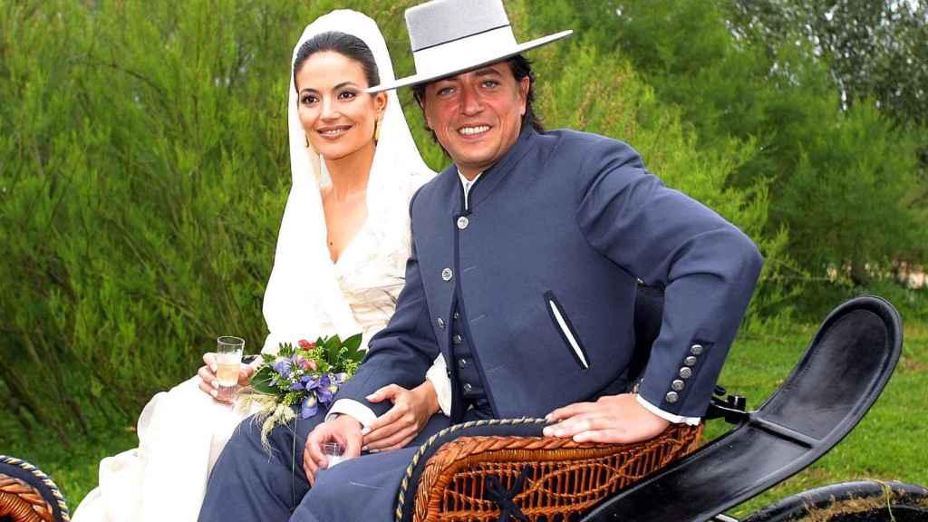 Lely Céspedes y Ernesto Neyra, el día de su boda.