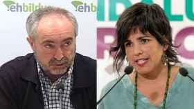 Rafael Larreina, exdiputado de Amaiur y miembro del Opus Dei, y Teresa Rodríguez, líder de Adelante Andalucía.