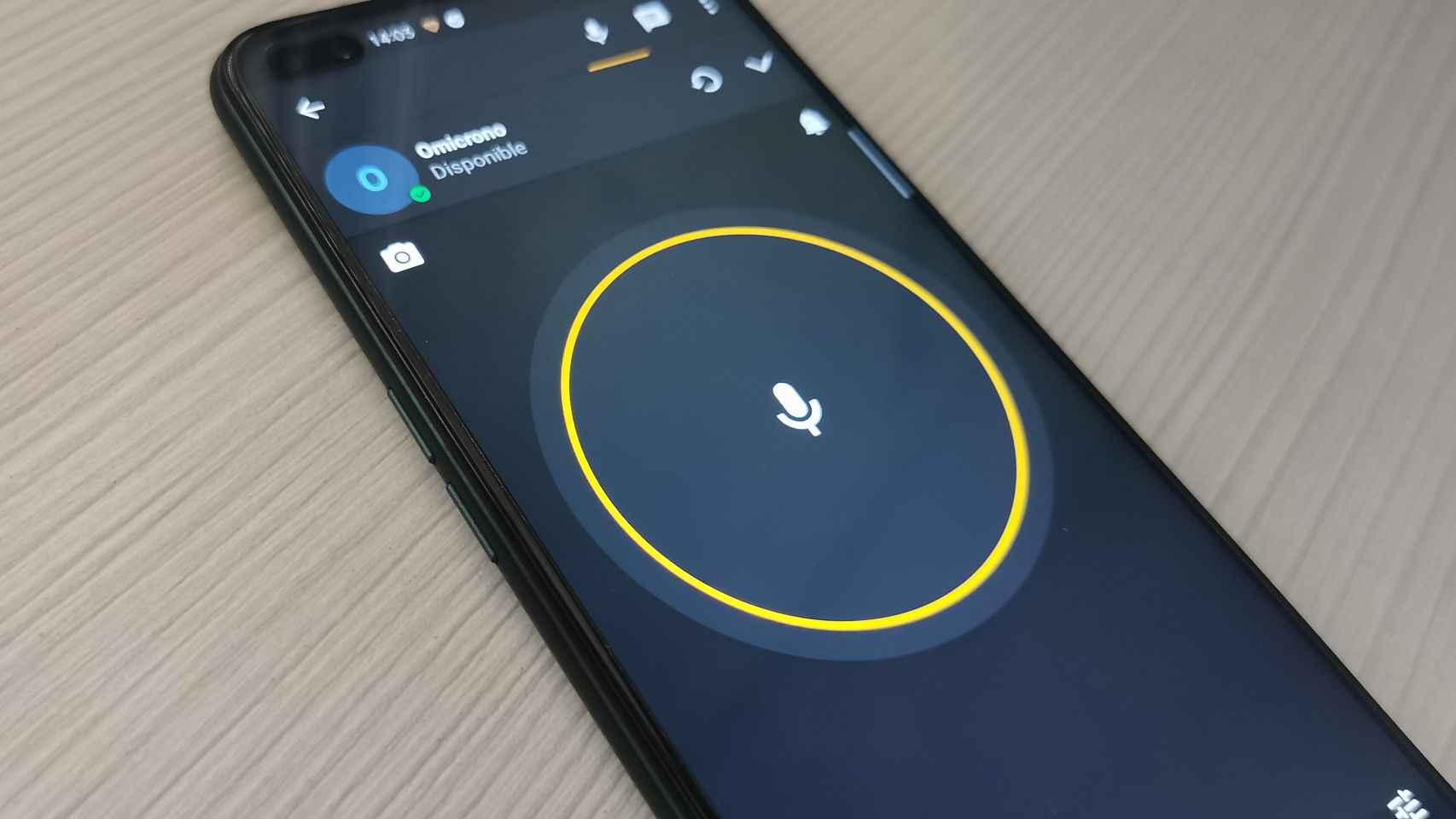 Interfaz de la app de Zello.