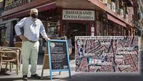 Orlando Fives, propietario de La Parrilla de Galicia, uno de los diez locales de la ruta del menú del día de EL ESPAÑOL.