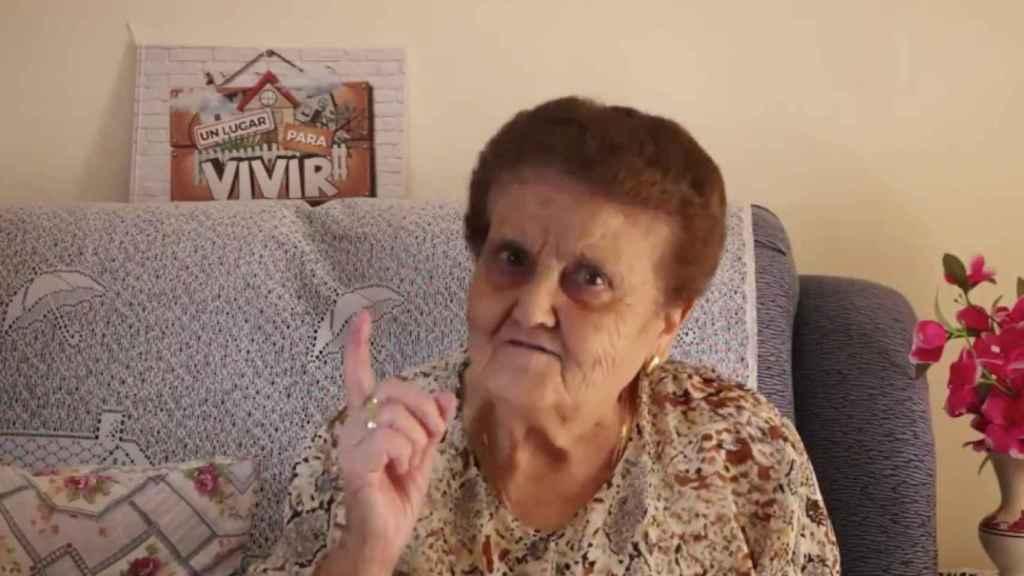 Rosario en la captura de su último vídeo viral.