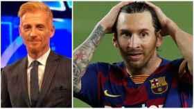 El periodista Martin Liberman y Leo Messi