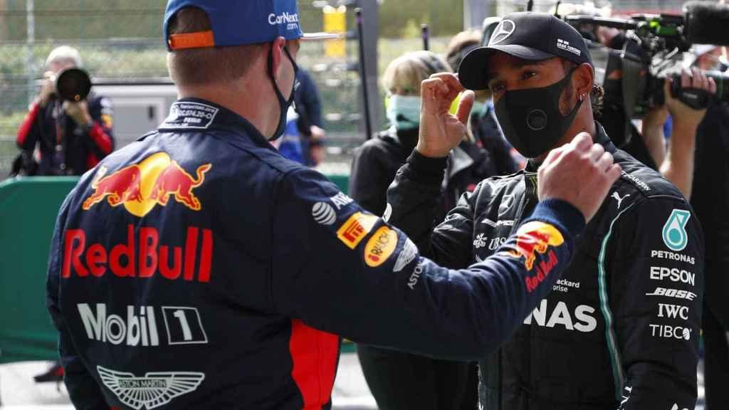 Hamilton y Verstappen en el GP de SPA