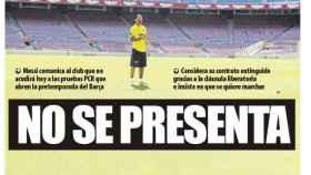 La portada del diario Mundo Deportivo (30/08/2020)