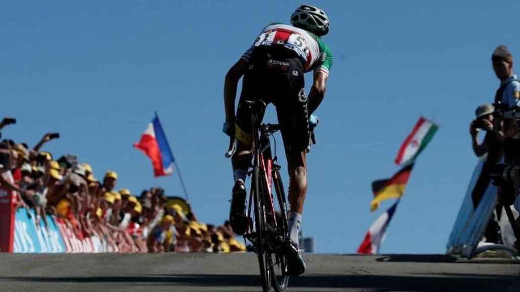 Vincenzo Nibali, en la Planche des Belles Filles en el Tour de Francia de 2014