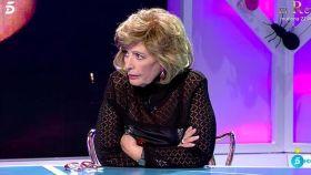 María Teresa Campos durante la emisión de 'Hormigas Blancas' en Telecinco.