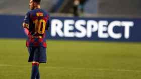 Leo Messi, durante el Barcelona - Bayern de Múnich de la Champions League