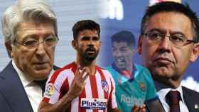 Enrique Cerezo, Diego Costa, Luis Suárez y Josep María Bartomeu