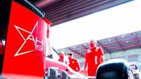 El box de la escudería Ferrari
