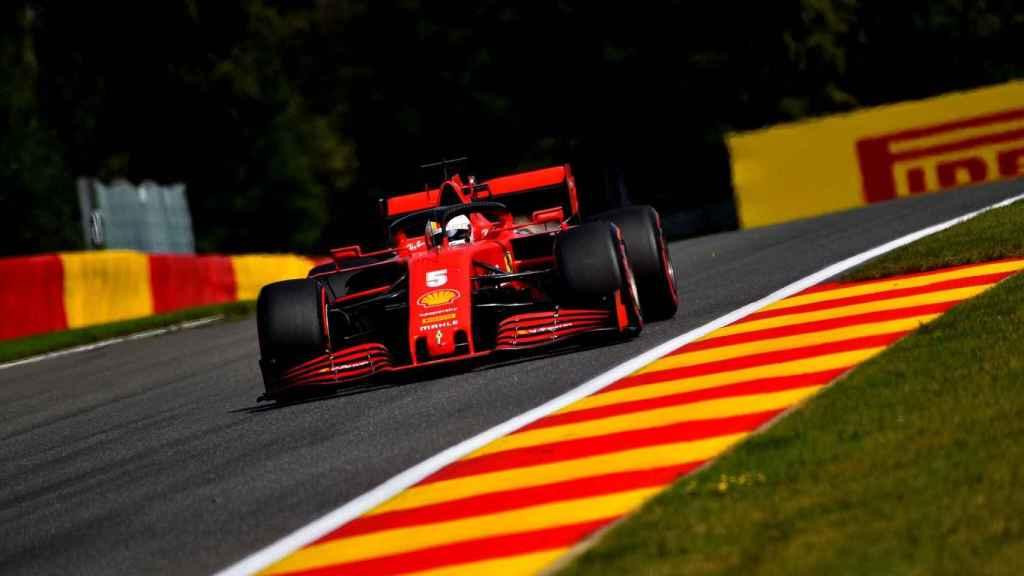 Vettel en el Gran Premio de Bélgica