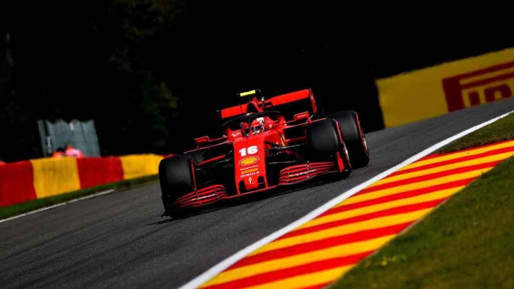 Leclerc en la carrera de SPA