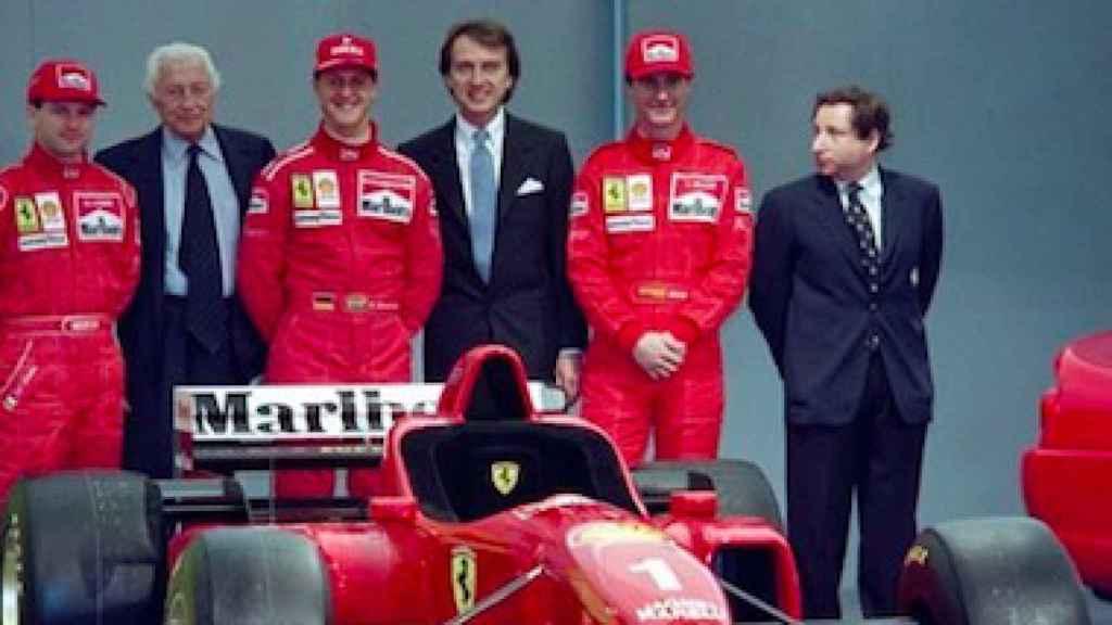 Schumacher en el equipo Ferrari en 1996
