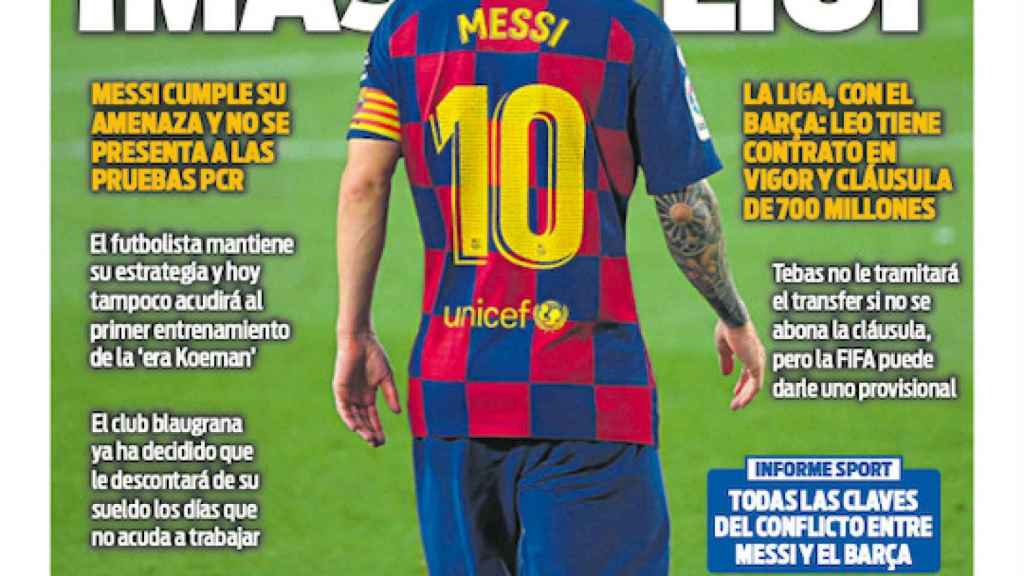 La portada del diario SPORT (31/08/2020)