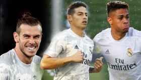 Gareth Bale, James Rodríguez y Mariano Díaz