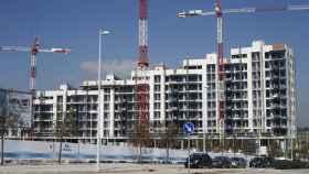 Un edificio en construcción en una imagen de archivo.