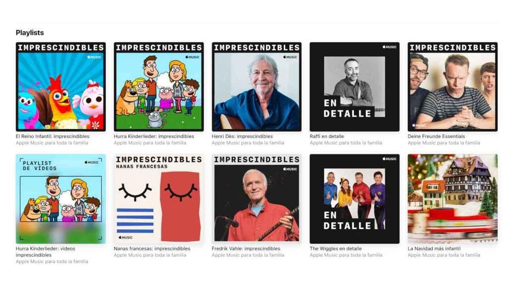 Listas de Apple Music para toda la familia