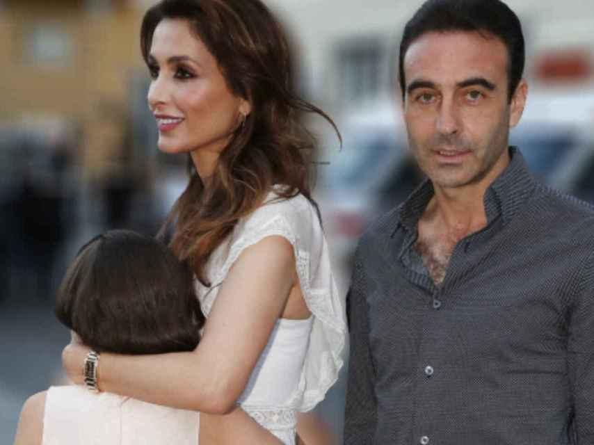 Paloma y Enrique junto a su hija en montaje de JALEOS.