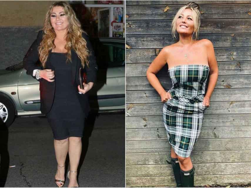 Amaia Montero antes y después de su cambio físico.