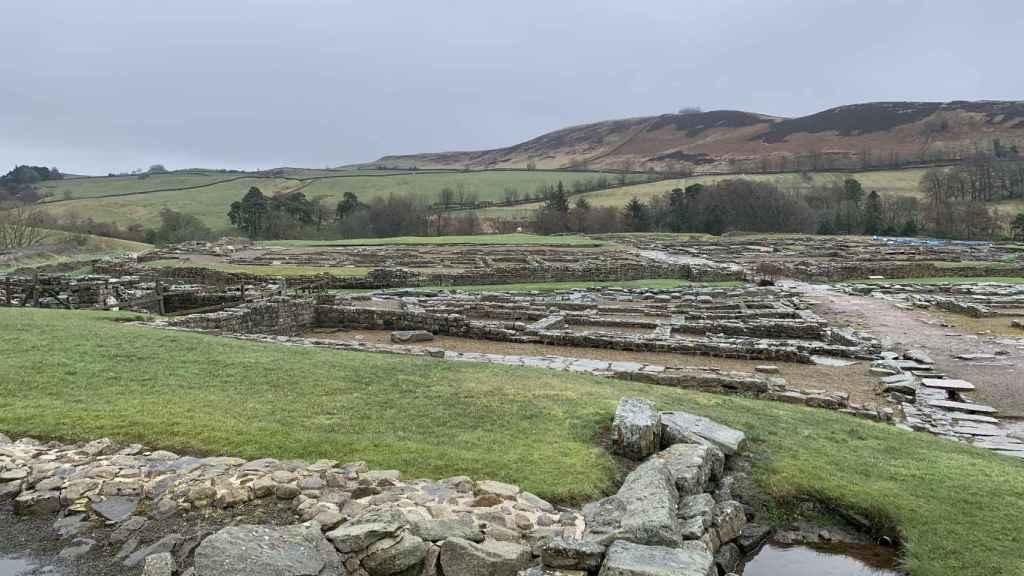Vista del yacimiento de Vindolanda.