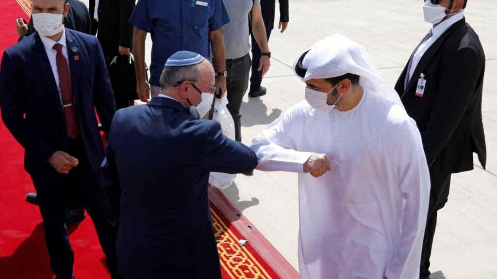 Ben-Shabbat a su llegada a Emiratos.
