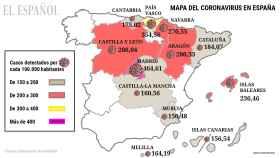 11 autonomías triplican la 'incidencia de alarma' por Covid que fijó el Gobierno para controlar fronteras