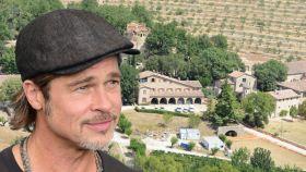 Brad Pitt, en Château Miraval, en un fotomontaje de JALEOS.