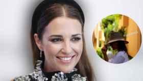 Paula Echevarría y el sombrero Wayúu de Casa de Vera que ha lucido, en un fotomontaje de JALEOS.