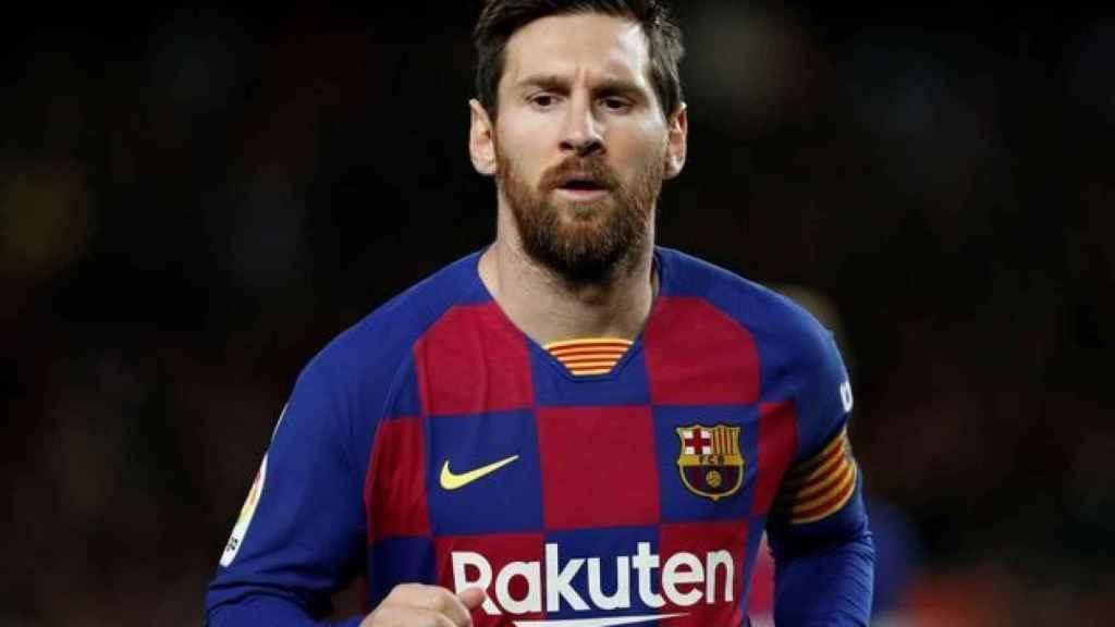 Leo Messi, en un partido del Barcelona durante la temporada 2019/2020