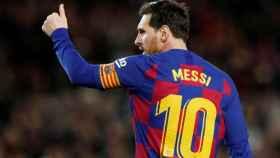 Leo Messi, en un partido del Barcelona en la temporada 2019/2020