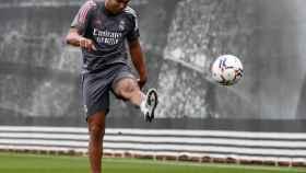 Casemiro durante un entrenamiento del Real Madrid