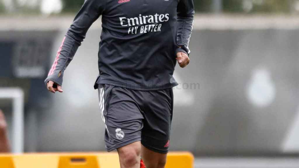 Isco, durante un entrenamiento del Real Madrid