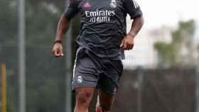 Marcelo durante un entrenamiento del Real Madrid