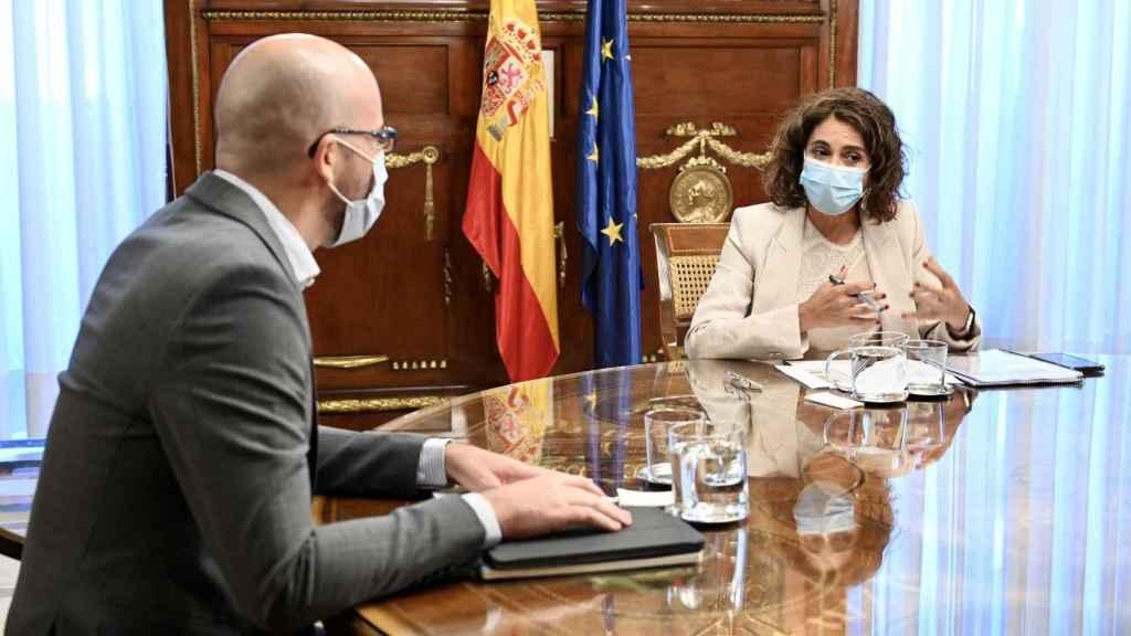 La ministra de Hacienda, María Jesús Montero, y el secretario de Estado de Derechos Sociales, Nacho Álvarez, este miércoles.