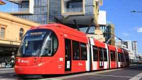 Uno de los proyectos de la compañías española CAF, el tranvía de Newcastle.