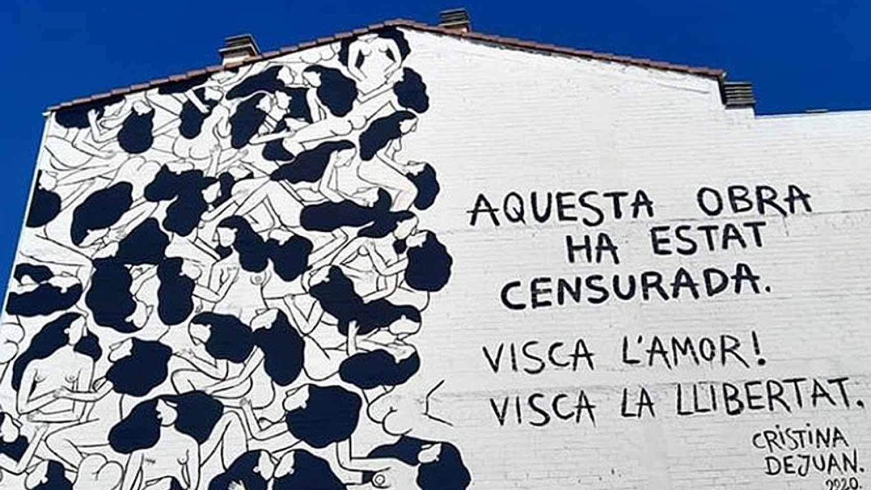 Imagen del mural de la polémica.