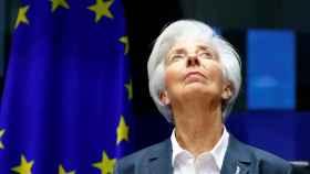 La presidenta del BCE, Christine Lagarde, en una comparecencia.