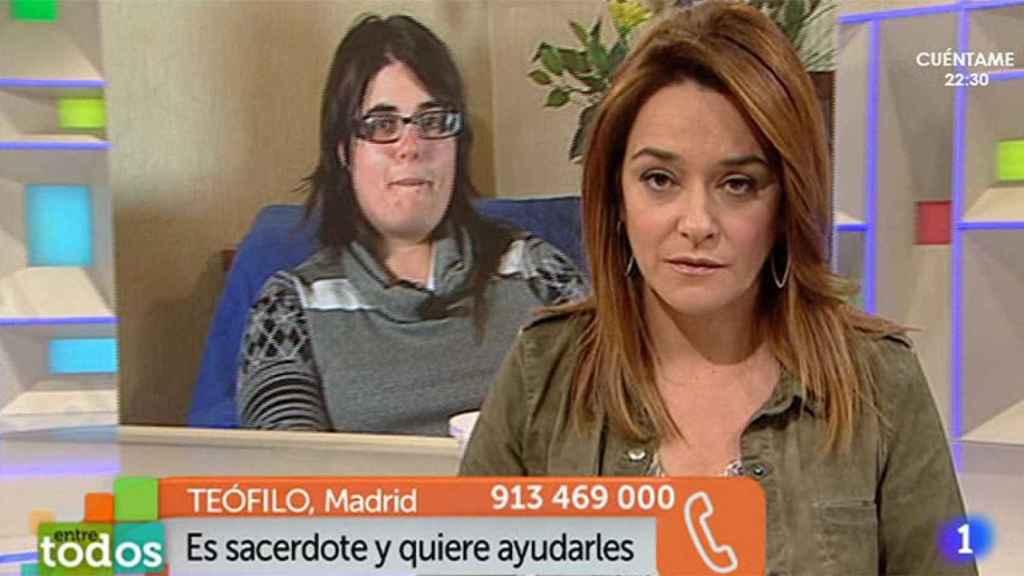 Toñi Moreno en 'Entre todos', de TVE.