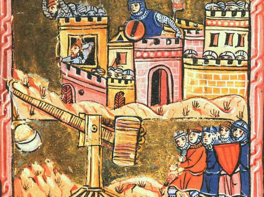 Representación del sitio de Acre entre 1189-1191.