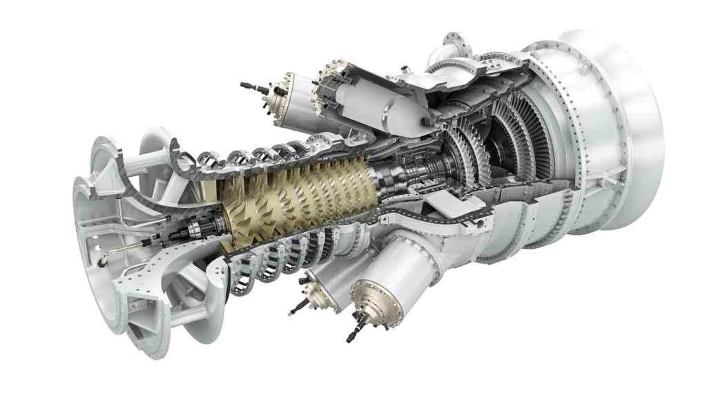 turbina de gas de Siemens para utilizar hidrógeno