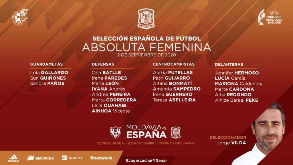 Marta Corredera, Ivana Andrés, Marta Cardona y Teresa Abelleria lideran la selección española