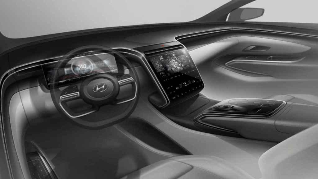 Interior del Hyundai Tucson de 2021.